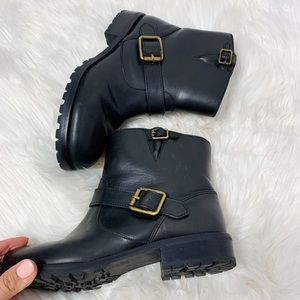 Marc by Marc Jacobs buckle boots leather